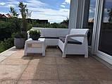 Набір садових меблів Corfu Relax Set White ( білий ) з штучного ротанга ( Allibert by Keter ), фото 5