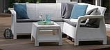 Набір садових меблів Corfu Relax Set White ( білий ) з штучного ротанга ( Allibert by Keter ), фото 9