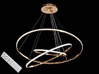 Светодиодная подвесная люстра с регулируемой высотой и пультом-диммером золото A9079-80*60*40