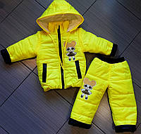 Демисезонный костюм детский куртка и штаны на синтепоне