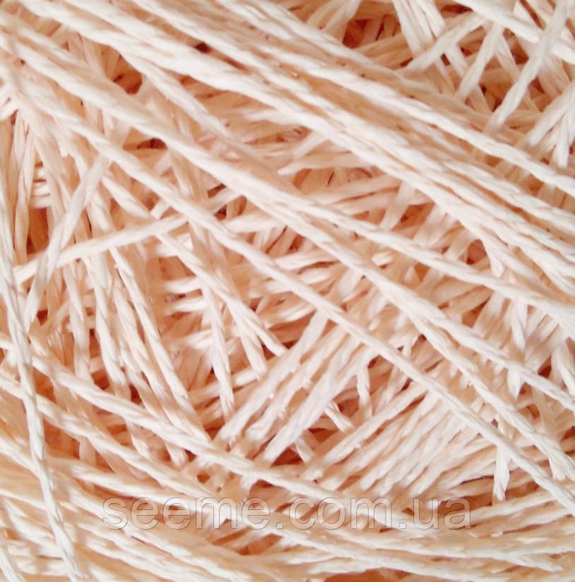 Паперовий шнур, 10 метрів, колір персиковий