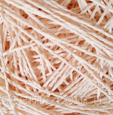 Бумажный шнур, 10 метров, цвет персиковый