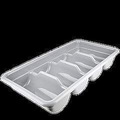Лоток для столовых приборов серый