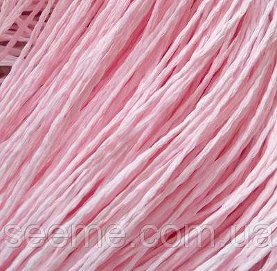 Бумажный шнур, 10 метров, цвет светло-розовый