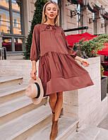 Романтическое осеннее платье свободного кроя