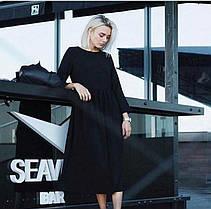 Платье длинное (цвет - черный, ткань - креп костюмка класса люкс) Размер S, M, L (розница и опт)