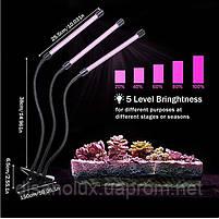 Фито светильник  прищепка  для растений Led  VGL -27W Full Spectrum  USB 5V, фото 4