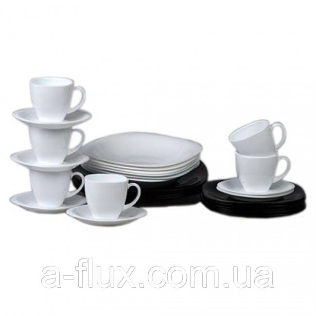 Столовый сервиз Carine Black/White 30 пр. Luminarc  D2382