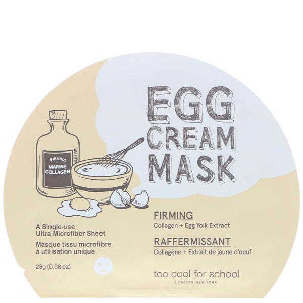 Тканевая маска с яичным желтком TOO COOL FOR SCHOOL EGG CREAM MASK FIRM - 28 г