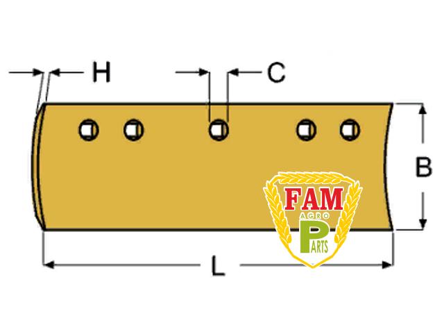 Нож ковша (режущая кромка) 2438х152х16 мм Caterpillar 8J4043