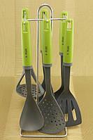 Кухонный набор на стойке A-Plus 7 предметов с силиконовыми ручками 0228
