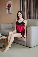 Яркий сексуальный бархатный пижамный комплект, фото 2