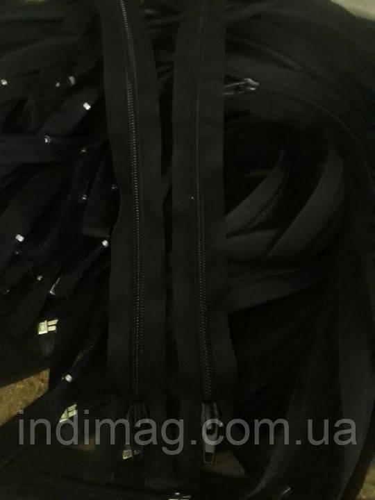 Застежка молния пластик черный