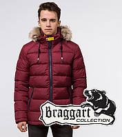 Подросток 13-17 лет | Куртка зимняя Braggart Teenager 73563 бордовая, фото 1