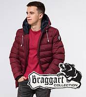 Подросток 13-17 лет   Куртка зимняя Braggart Teenager 76025 бордовая, фото 1