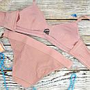 Комплект женского нижнего белья розовый, фото 4
