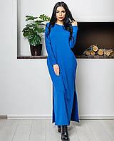 Платье трикотажное (цвет - электрик, ткань - трикотаж) Размер S, M, L (розница и опт)
