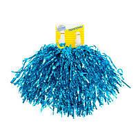 Гофрированные помпоны, помпоны для черлидинга, набор из 24 шт, цвет синий