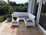 Набір садових меблів Corfu Relax Set White ( білий ) з штучного ротанга ( Allibert by Keter ), фото 8