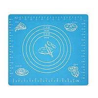 Коврик-подложка для раскатывания теста, 29*26 см, голубой, Кондитерские принадлежности