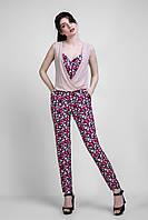 Яскравий літній жіночий комбінезон з брюками розмір 42-44