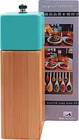 Перцемолка деревянная, мельница для перца и соли, с керамическим ножом для помола MLY-WO6BS-6 коричневая