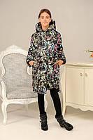 Зимняя куртка детская для девочки «Даяна», цветы ТМ MANIFIK