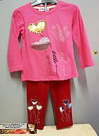 Детский костюм для девочки Турция лосины + туника от 1 года до 4 лет