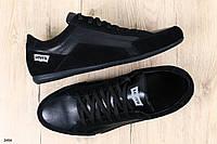 Кроссовки мужские черные кожаные, фото 1