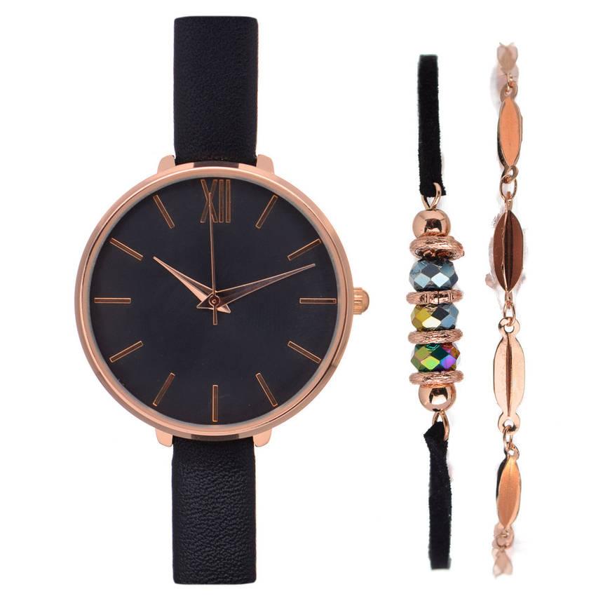 Жіночий годинник Anna Field JGZYY Gold Black + Браслети, фото 2