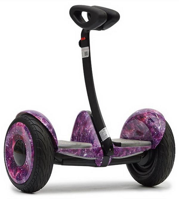 """Мини Сигвей Mini Robot колеса 10.5"""" Bluetooth фиолетовый космос"""