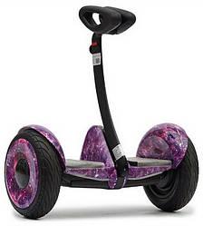 """Міні Сігвей Mini Robot колеса 10.5"""" Bluetooth фіолетовий космос"""