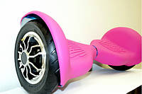 Силиконовый розовый яркий чехол для гироскутера 10 дюймов