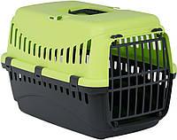 Переноска для котів і собак, велика, Gipsy, MP Bergamo, 58х38х38 см, пласт, зелений