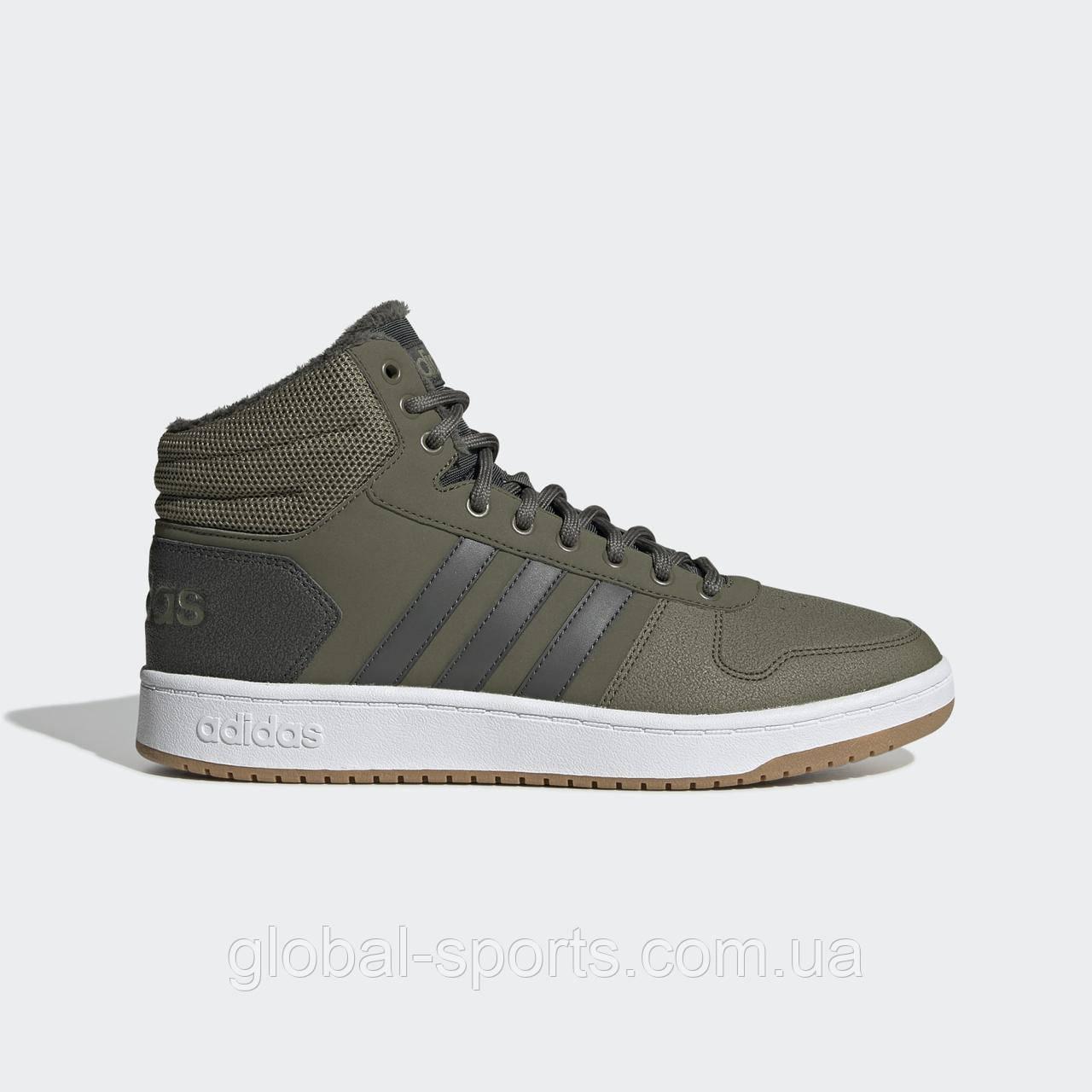 Мужские кроссовки Adidas Hoops 2.0 Mid (Артикул:EE7370)