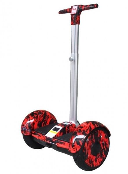 """Гироскутер с ручкой А8 Smart Balance 10.5"""" красный огонь"""