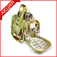 Набор для пикника Time Eco TE-430 Premium Picnic на 4 персоны (термосумка + посуда)