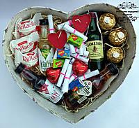 Подарунковий набір серцем №32. Подарунок для двох закоханих на річницю, на весілля, День Святого Валентина