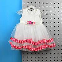Летнее платье  для девочки Турция размер 6мес, 12 мес