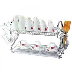 Настольная сушилка для посуды сушка 2 яруса 68 см Stenson MH-0260 Sorrento
