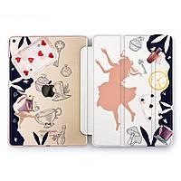 Чехол книжка, обложка для Apple iPad (Алиса в Стране чудес) модели Pro Air 9.7 10.5 11 12.9 mini 1 2 3 4 5 айпад про эйр 2017 2018 2019 case smart