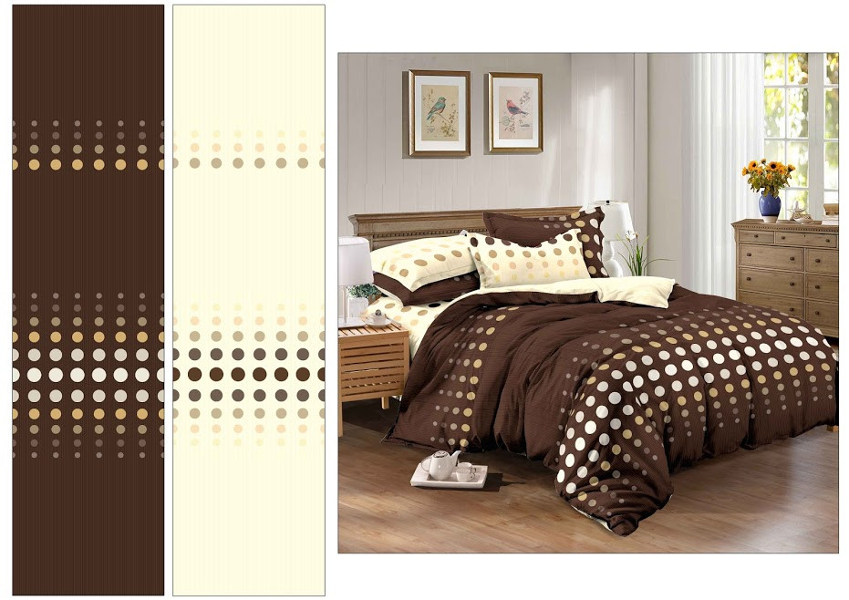 Двуспальный комплект Шоколадный горох