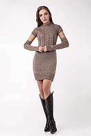 Молодіжне в'язане теплу сукню зі знімними рукавами різні кольори 42-44, 44-46, 46-48, фото 1