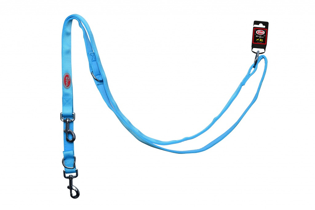 Поводок Pet Nova Adjust S 1.5 х 240 см Голубой