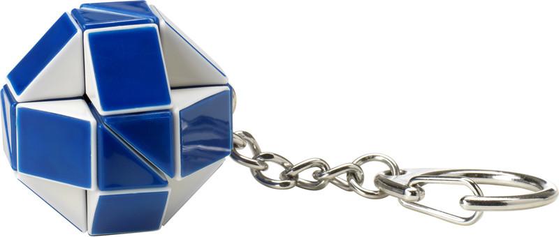 Міні-головоломка брелок rubik's – ЗМІЙКА БІЛО-БЛАКИТНА (з кільцем)