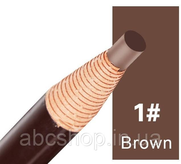 Карандаш, с ниткой самозатачивающийся (Natural brown/натуральный коричневый)