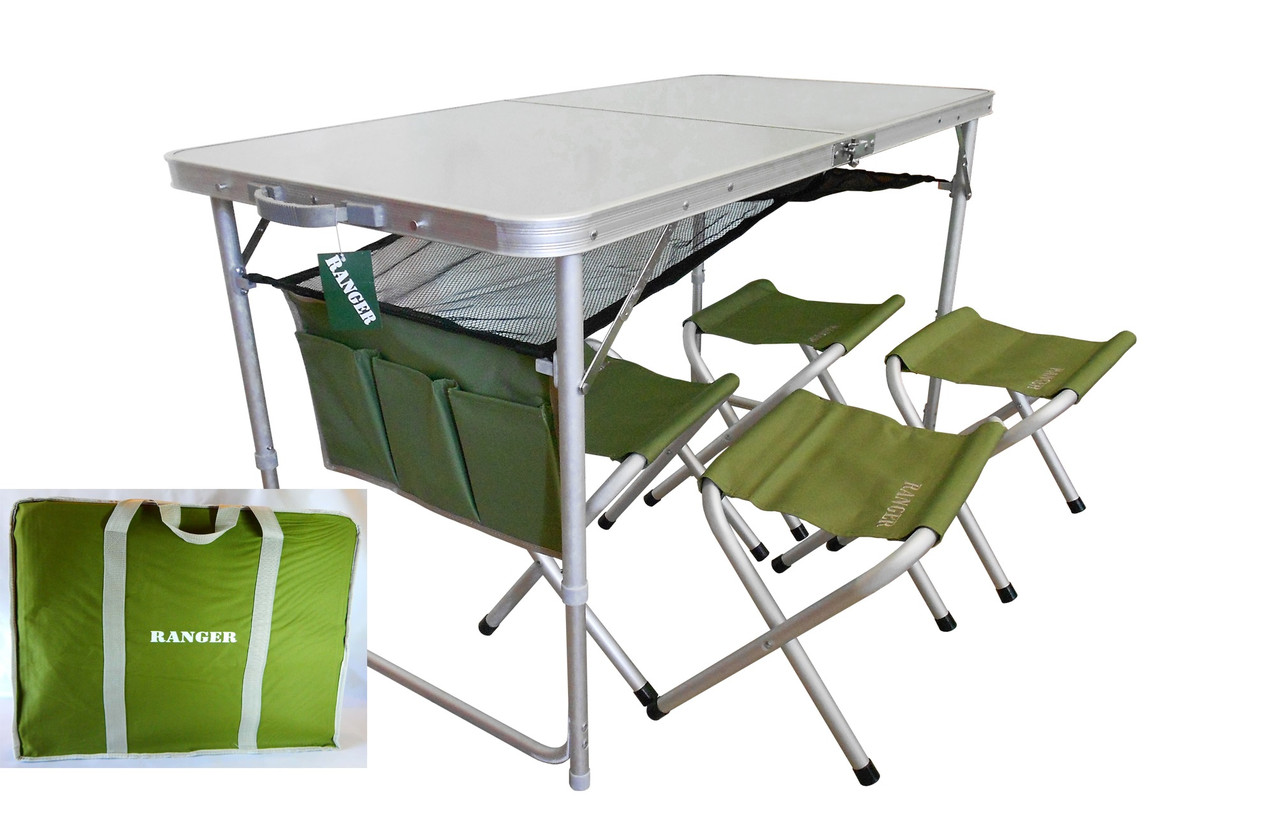Комплект мебели складной стол Ranger TA 21407+FS21124 в чехле