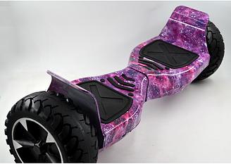 """Гироскутер Smart Balance большие колеса 8,5"""" Hummer фиолетовый космос"""