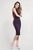 Летнее облегающее платье из гипюра длины миди размеры 42,44,46