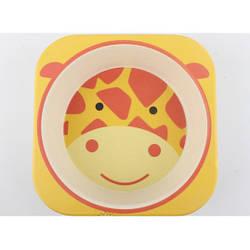 Посуда для кормления детей из натурального бамбука экологическая Жирафчик Giraffe